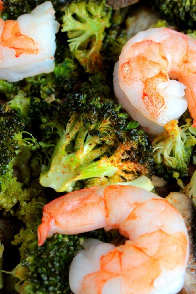 Shrimp and Broccoli Sheet Pan Meal