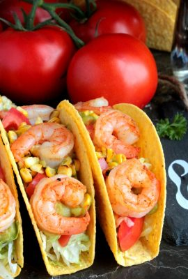 Shrimp and Grilled Corn Tacos