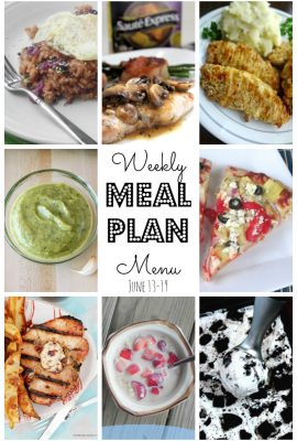 It's time for the Weekly Mean Plan #16! Lots of dinner ideas and a perfect recipe for an easy cookies and cream ice cream!