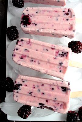 Blackberry Yogurt Popsicles #12Bloggers