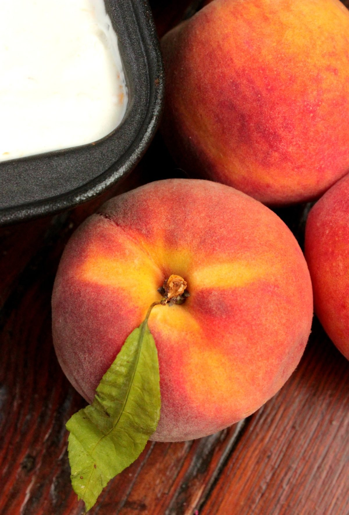 Fresh peaches make the best ice cream! This recipes is FANTASTIC because you don't even need an ice cream machine!!