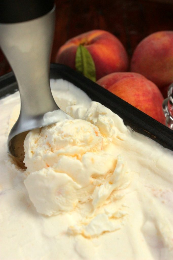 Perfect No churn peach ice cream!