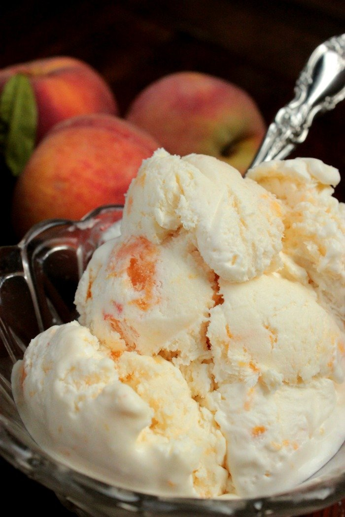 I LOVE no churn ice cream! This is exactly what I'm going with all of those peaches from the farmer's market!