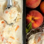 Fresh Peach Ice Cream – no churn ice cream!