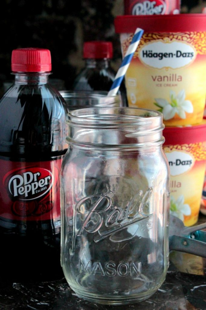 Homemade Dr. Pepper Floats