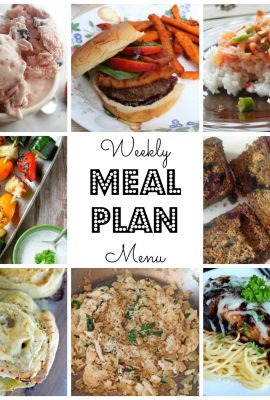 Meal Plan Ideas Week 20