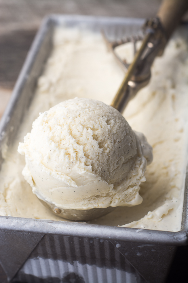 No Churn Vanilla Bean Ice Cream --- the ultimate vanilla ice cream, without the machine! | theviewfromgreatisland.com