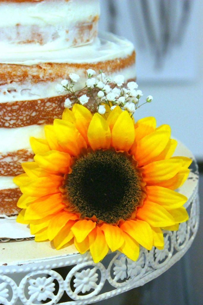 Orange Creamsicle Semi Naked Cake - Semi Naked Sunflower Cake