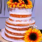 Orange Creamsicle Semi Naked Cake