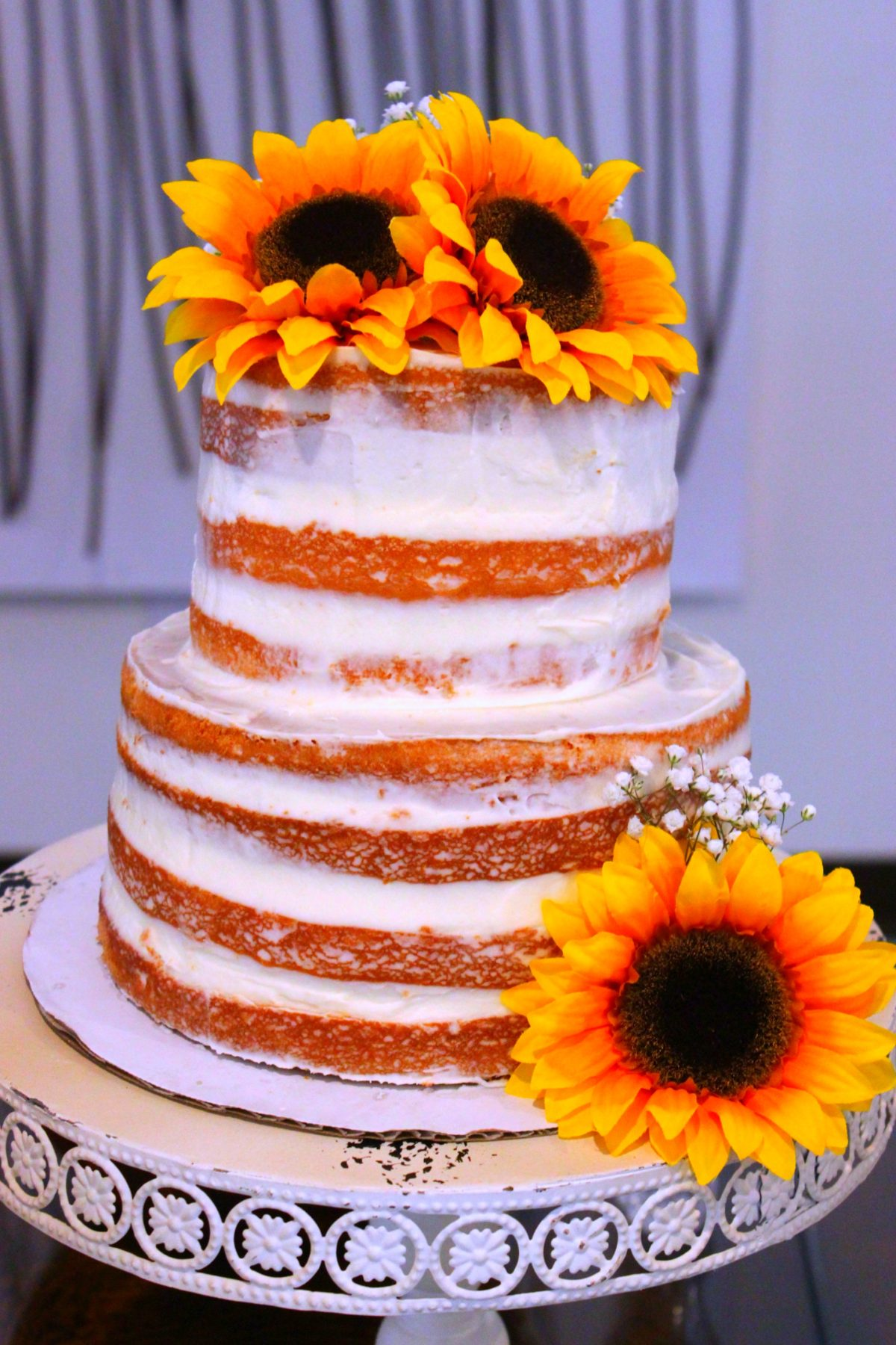 Orange Creamsicle Semi Naked Cake Big Bear S Wife