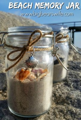 Planning a trip to the beach this summer? Take some time to collect a few seashells and a little sand to create your own personal DIY Beach Memory Jar vacation souvenir.