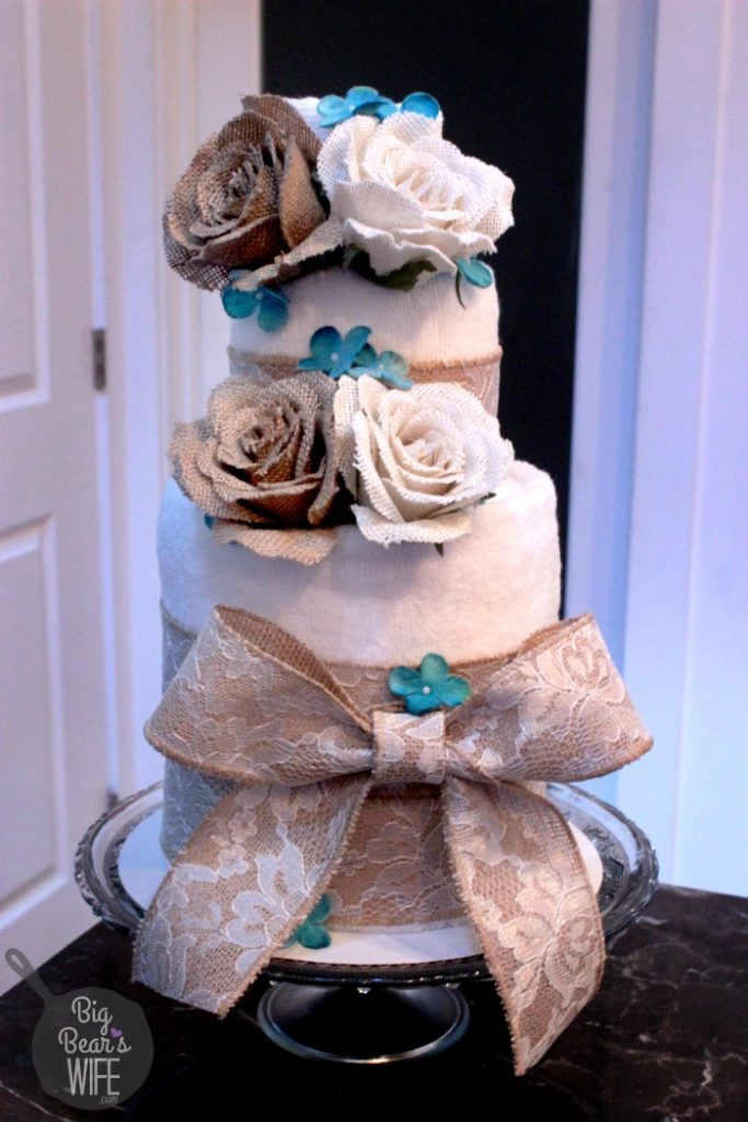 How To Make A Towel Cake For A Bridal Shower Big Bears Wife - Wedding Shower Towel Cake