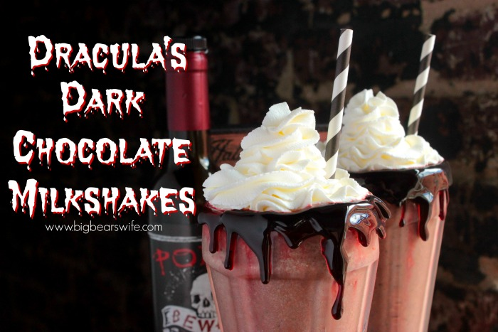Dracula's Dark Chocolate Milkshakes