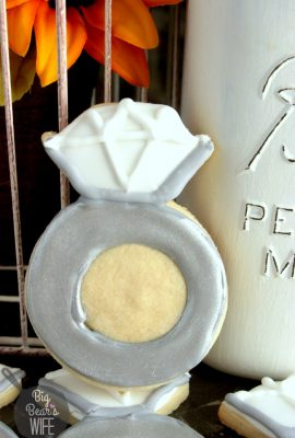Engagement Ring Sugar Cookies