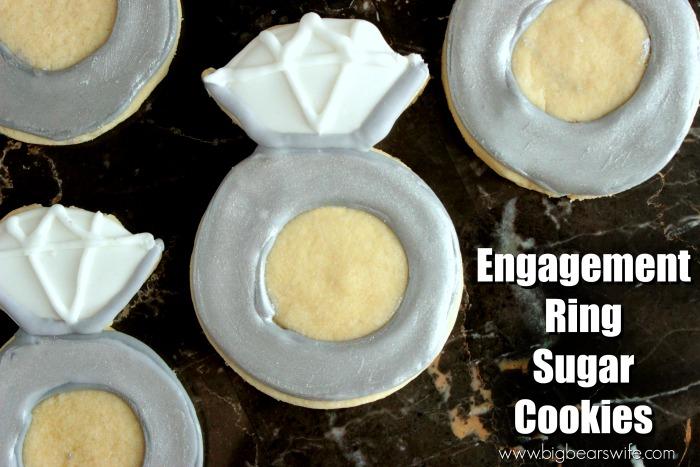 Engagement Ring Sugar Cookies