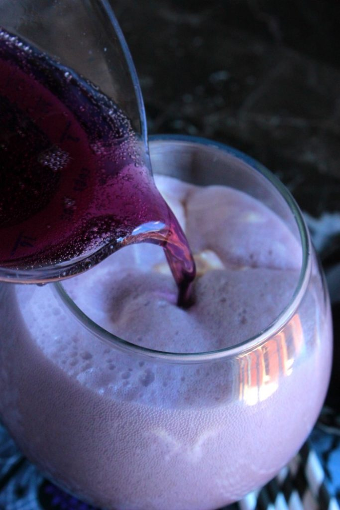 Flying Purple People Eater Ice Cream Float
