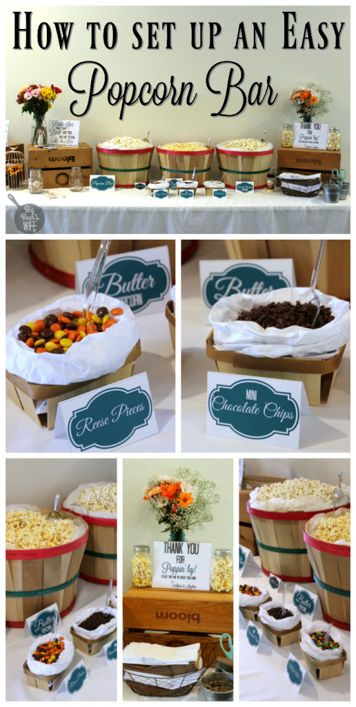 How to Set up a popcorn bar!!