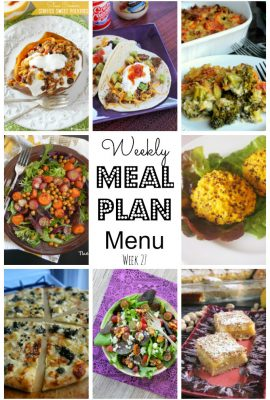 So while I'm decorating, let's get onto this weeks meal plan! You're going to love what we have picked out for you today!