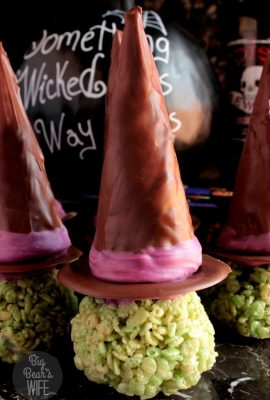 Witch Hat Marshmallow Cereal Treats (6)