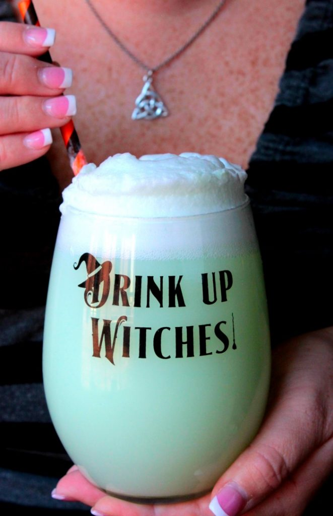 Witches Brew Lime Sherbet Punch - This punch is always a favorite at parties and we make it almost every time we have a gathering! Everyone goes back for more! Now it's time to bring this Witches Brew to the table and get ready for Halloween! Grab a glass and let's go!