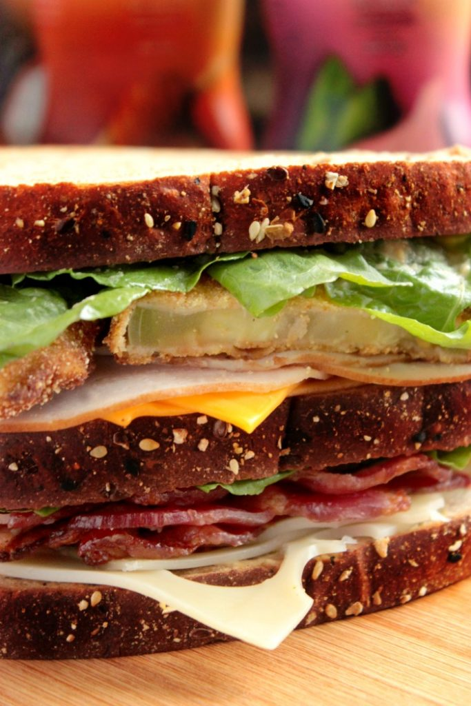 Fried Green Tomato Club Sandwich