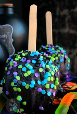 Halloween Chocolate Apples