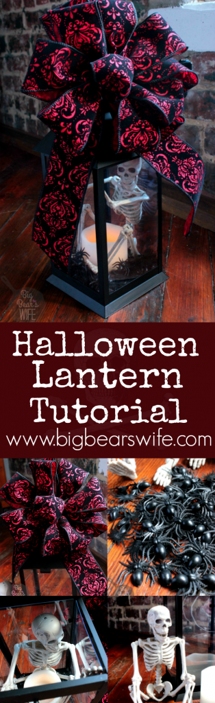 Halloween Lantern Decoration Tutorial