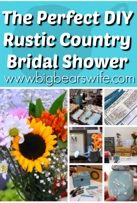 how t o throw the perfect rustic country bridal shower