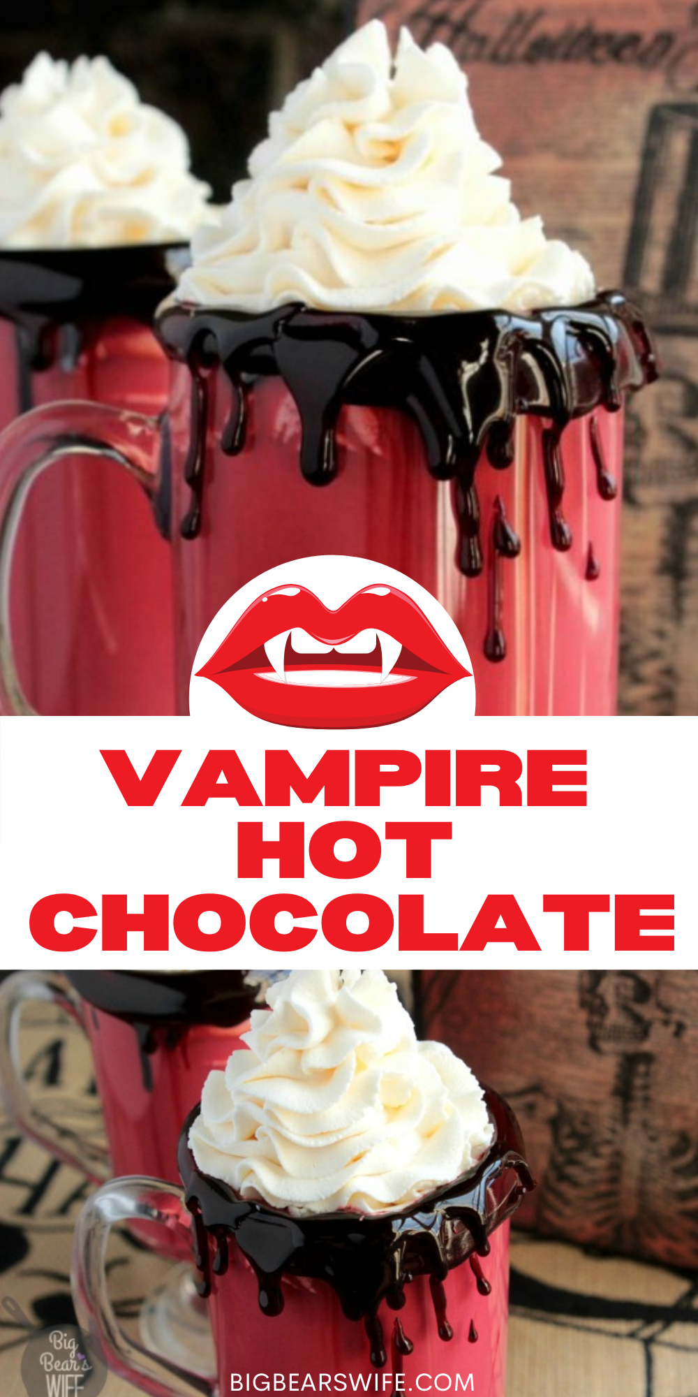 """Vampire Hot Chocolate - """"Some are born into sweet delight, some are born to endless nights.""""- William Blake. This poem line isn't directly related to vampires but it does seem to fit doesn't it. It does sound like it's perfect for thisVampire Hot Chocolate too! via @bigbearswife"""