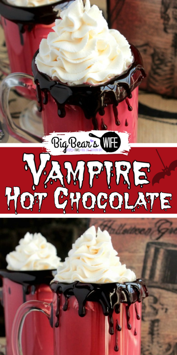 "Vampire Hot Chocolate - ""Some are born into sweet delight, some are born to endless nights.""- William Blake. This poem line isn't directly related to vampires but it does seem to fit doesn't it. It does sound like it's perfect for this Vampire Hot Chocolate too!"