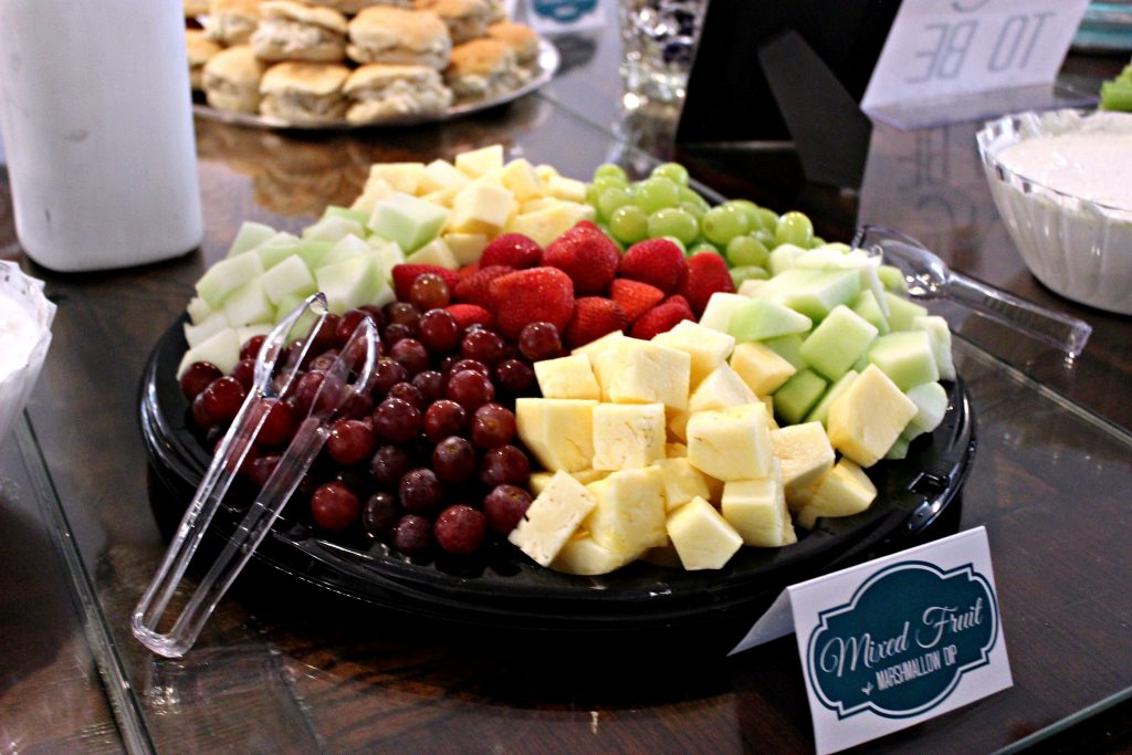 Fruit Tray from DVF - The Market with Orange Marshmallow Fruit Dip