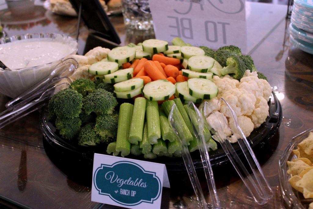 Vegetable Tray from DVF - The Market with Ranch Dip