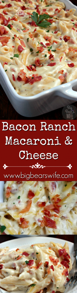 Bacon Ranch Macaroni and Cheese