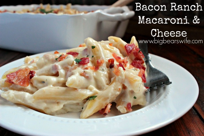 Bacon Ranch Macaroni and Cheese