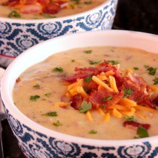 Cheesy Wild Rice Potato Soup