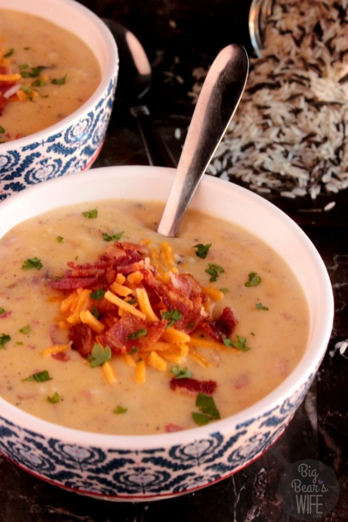 Cheesy Wild Rice Potato Soup