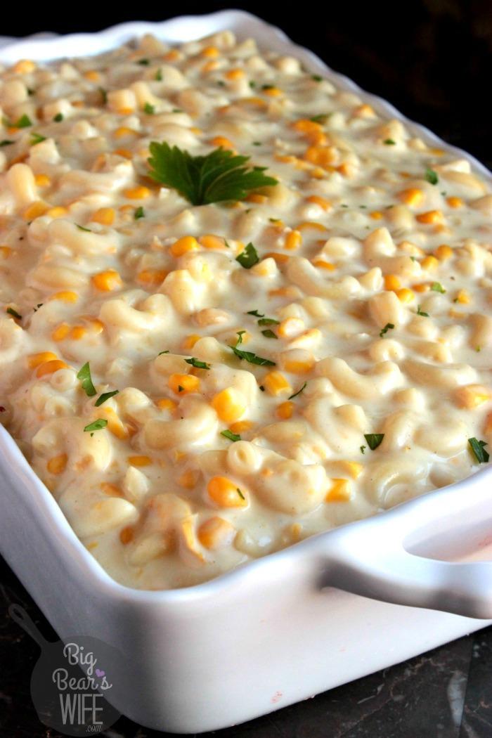 Creamed Corn Macaroni and Cheese