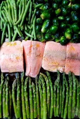 Easy Baked Teriyaki Salmon and Vegetable Sheet Pan Meal