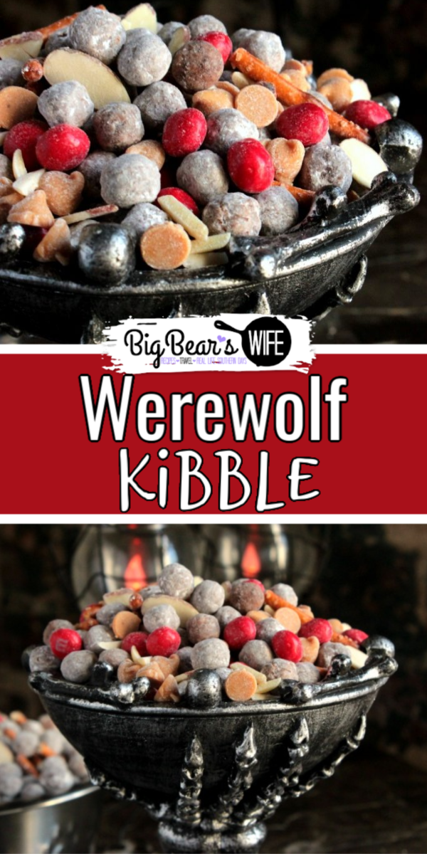 Werewolf Kibble - Hungry little werewolves prowling around your kitchen? Satisfy their sweet tooth with this homemade Werewolf Kibble. They'll be howling with delight. via @bigbearswife