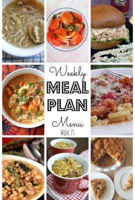 Is the weather starting to get a little chilly where you are? The Weekly Meal Plan Week 35 has soup, comfort foods and pasta recipes galore!