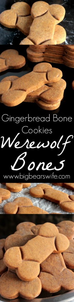 Werewolf Bones - Gingerbread Bone Cookies