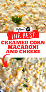 Heavenly white cheddar mac and cheese and tasty creamed corn come together perfectly in this easy to whip up Creamed Corn Macaroni and Cheese!