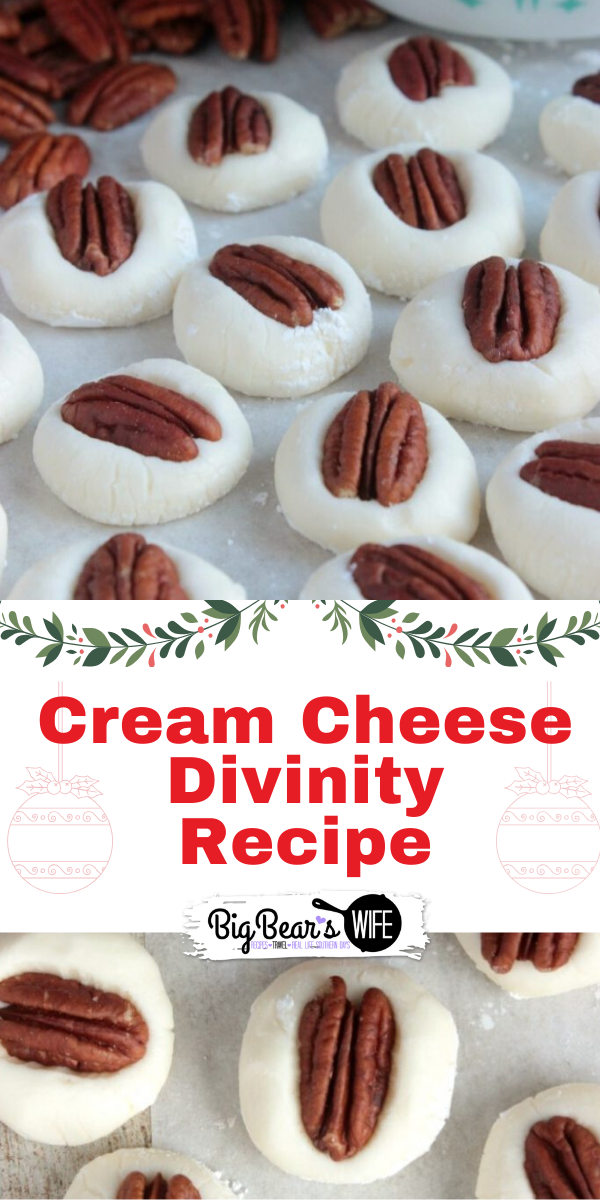 Cream Cheese Divinity - A super easy take on the Southern candy, Divinity. A no fail Cream Cheese Divinity recipe that will keep you coming back for more! It's impossible to eat just one piece!