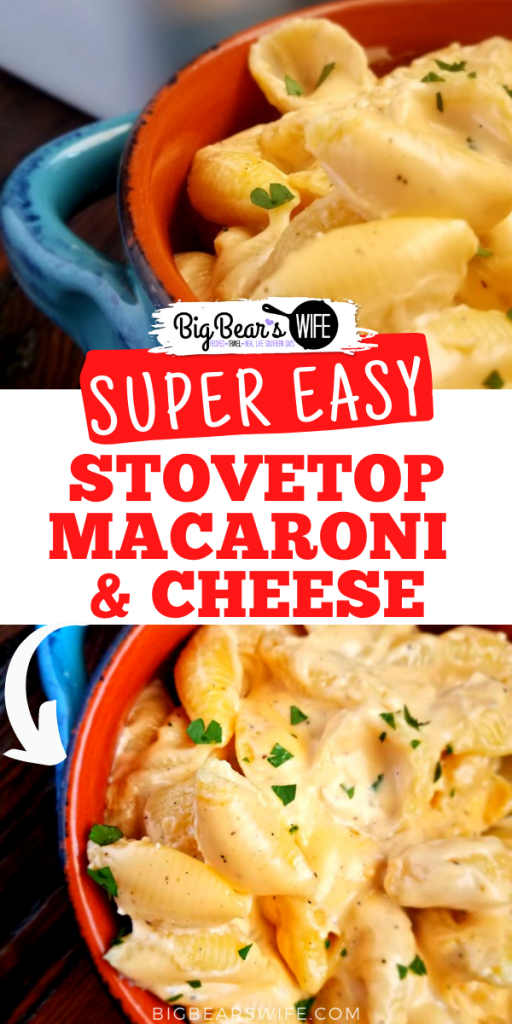 AnEasy Stovetop Macaroni and Cheese that can be whipped up in minutes; so quick to make and such a tasty side dish!