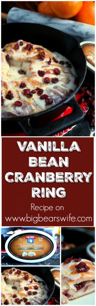 Vanilla Bean Cranberry Ring
