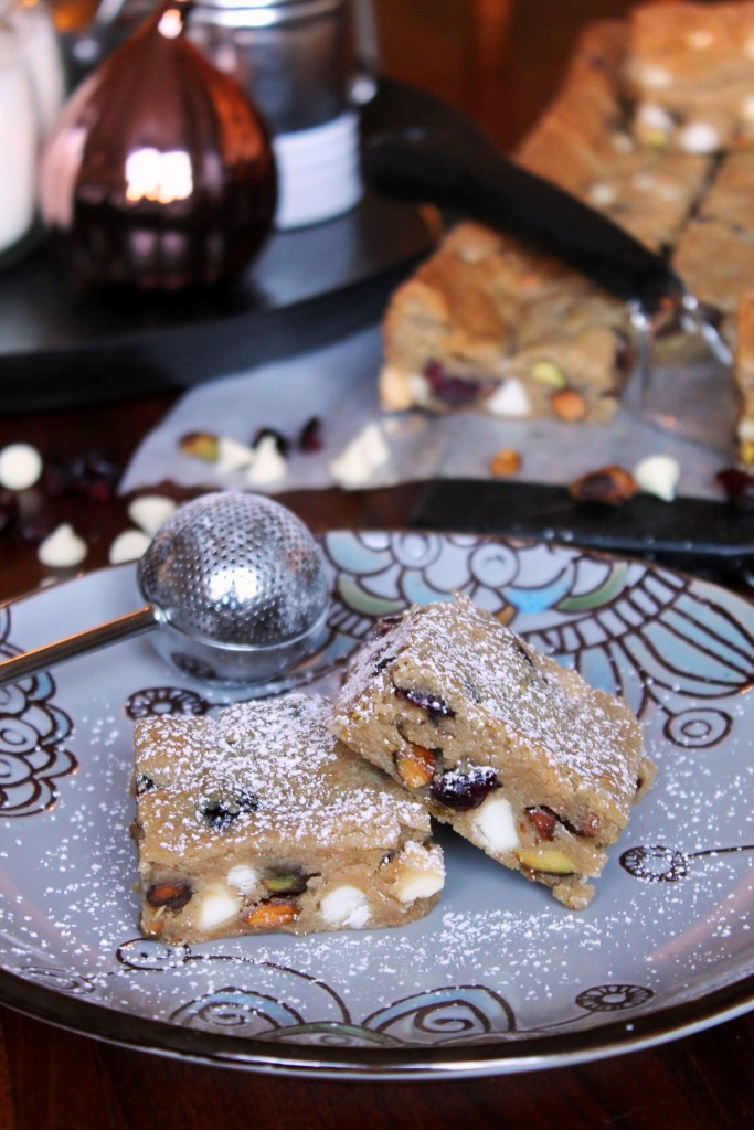 White Chocolate Cranberry Pistachio Cookie Bars 1