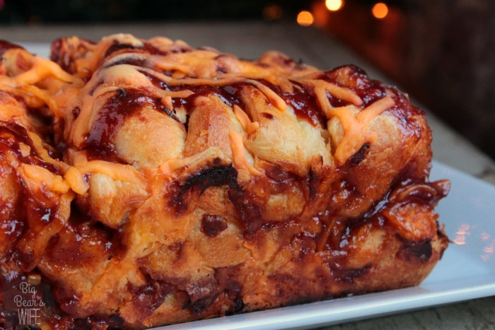 BBQ Chicken Pull Apart Bread