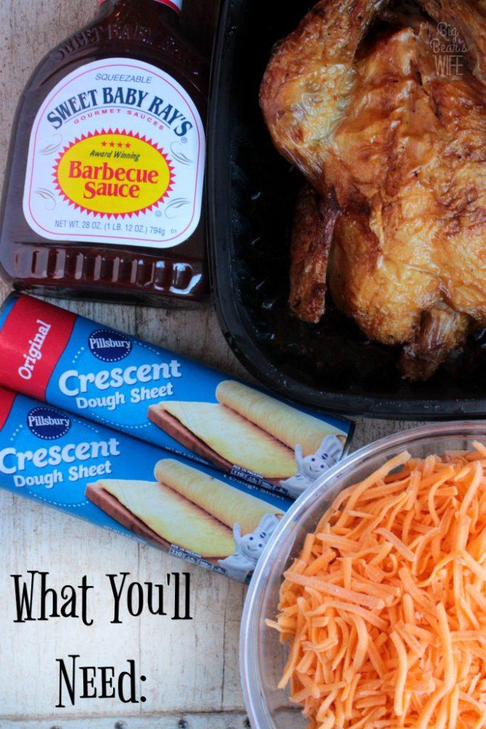 BBQ Chicken Pull Apart Bread