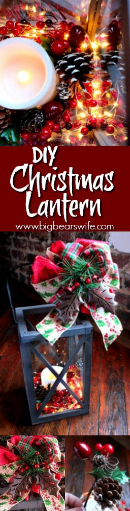 diy christmas lantern tutorial how to decorate a christmas lantern