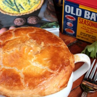 Crab Pot Pie from The Gourmet Kitchen Cookbook by Jennifer Farley